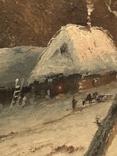 Зимний пейзаж. Неизвестный художник, фото №8