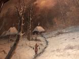 Зимний пейзаж. Неизвестный художник, фото №9