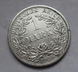 1 марка 1906 г. (F) Германия, серебро, фото №3