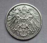 1 марка 1906 г. (F) Германия, серебро, фото №4