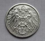 1 марка 1906 г. (F) Германия, серебро, фото №5