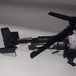 Вертолёт трансформер на запчасти длина 24 см., фото №9