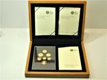Набор золотых монет Эмблемы Великобритании 2008 г., фото №2