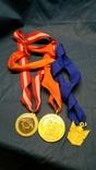 3-и медали, сувенирные., фото №2