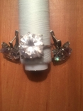 """Серебряные серьги и кольцо с камнями . (925 проба). Клеймо """" Голова""""., фото №4"""
