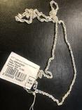 Серебряная цепочка. Новая, фото №2