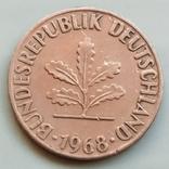 1 пфенниг 1968 г. ФРГ, Карлсруэ, фото №3