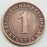 1 рентенпфенниг 1923 г. Веймарская республика, Штутгарт, фото №3