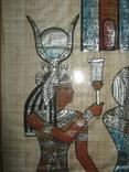 Современный египетский папирус в рамке под стеклом, фото №7