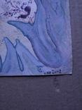 """Космос.Черная дыра"" б.см.техн. 21х30.2002.С.Тронов, фото №3"