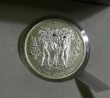 БИБЛЕЙСКИЕ ИСТОРИИ - Адам и Ева - серебро, 2 доллара Палау, фото №2
