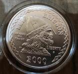 США 1 доллар 2000 г. Лейф Эриксон, 1000-летие открытия Америки. Серебро., фото №2