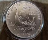 США 1 доллар 2000 г. Лейф Эриксон, 1000-летие открытия Америки. Серебро., фото №3