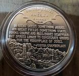США 1 доллар 1995 г. Серебро. Гражданская война., фото №3