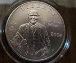 США 1 доллар 2004 г. 125-летие электрической лампочки Эдисона. Серебро., фото №2