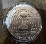 США 1 доллар 2004 г. 125-летие электрической лампочки Эдисона. Серебро., фото №3