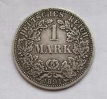 1 марка 1891 г. (А) Германия, серебро, фото №4