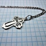 Крест с цепочкой 925 пробы, фото №2