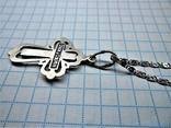 Крест с цепочкой 925 пробы, фото №6