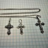 Кресты с цепочкой серебро, фото №2