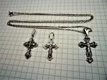 Кресты с цепочкой серебро, фото №3
