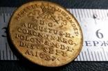 1 дукат  золотом1697 року , Польща ,  копія золотої не магнітний, позолота 999, фото №4