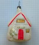 Елочная игрушка Домик СССР 1960г., фото №2