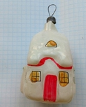 Елочная игрушка Домик СССР 1960г., фото №5