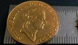 1 дукат  золотом1789  року , Польща ,  копія золотої не магнітний, позолота 999, фото №3