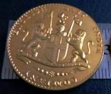 Монета Індіїії точна копія Золотої /позолота 999/ не магнітна, фото №2