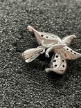 Серебряная подвеска в виде бабочки, фото №4