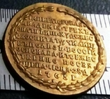 Пам'ятний жетон - на відкриття художньої академії  1765. копія позолота 999, фото №2