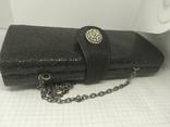 Вечерняя сумочка клатч на длинной цепочке. Accessorize. 17,5х4х8,5см, фото №6