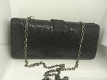 Вечерняя сумочка клатч на длинной цепочке. Accessorize. 17,5х4х8,5см, фото №7