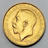 1 фунт (соверен). 1928. Георг V. Великобритания (проба 917, вес 8,00 г), фото №3