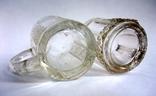 Кружечки - бокальчики старинные литое стекло. Предположительно Мальцевское стекло., фото №4
