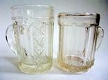 Кружечки - бокальчики старинные литое стекло. Предположительно Мальцевское стекло., фото №9