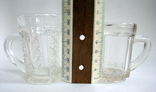 Кружечки - бокальчики старинные литое стекло. Предположительно Мальцевское стекло., фото №13