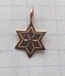 Старинная подвеска звезда давида золото, фото №4