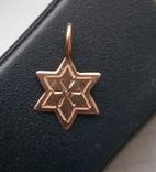Старинная подвеска звезда давида золото, фото №6
