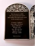 РЕНЕССАНС - Малая Мадонна Коупера, Рафаэль Санти - серебро 999, 50 грамм - Тираж 3000, фото №7