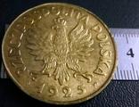100 злотих золотом 1925 року , Польща , копія золотої  позолота 999, фото №3
