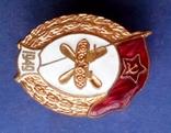 Знак за окончание среднего военного училища ГСМ 1949 год. КОПИЯ, фото №3