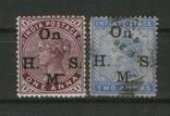 1882-90 Брит. колонии. Индия Королева Виктория, лот 2 шт., фото №2