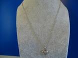Винтажная подвеска-кулон с цепочкой. Серебро. Клейма., фото №3