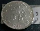 5 крон 1937 року Чехословаччина- копія, фото №2