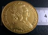 Монета Португалії 1804 року -точна копія Золотої /позолота 999/ не магнітна, фото №3