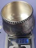 Какой-то сосуд - то ли видпош, то ли плевательница и т. п., серебро, 83+ грамма, фото №7