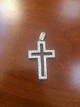 """Подвеска """"Крест"""" серебро 925, фото №2"""