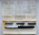 Новая перьевая ручка МЗПП АР-602 под картридж. Пишет мягко и насыщенно., фото №2